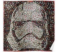 The Silver Trooper Captain - Bottle Cap Mosaic Poster