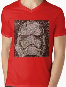 The Silver Trooper Captain - Bottle Cap Mosaic Mens V-Neck T-Shirt