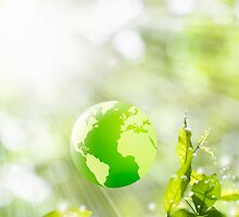 green globe by naphotos
