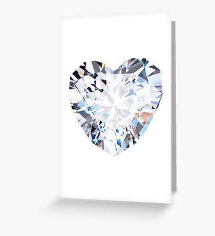 brilliant cut heart diamond ring Greeting Card