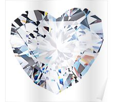 brilliant cut heart diamond ring Poster