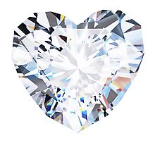 brilliant cut heart diamond ring Photographic Print