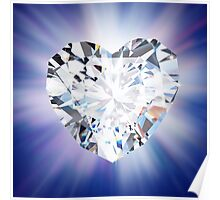 heart diamond Poster
