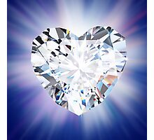 heart diamond Photographic Print