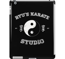 Ryu's Karate Studio - Black Version iPad Case/Skin