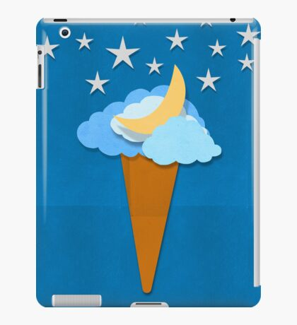 ice cream design by weather icon iPad Case/Skin