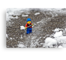 Epic Shoveling Canvas Print