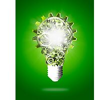 light bulb design by cogs and gears Photographic Print