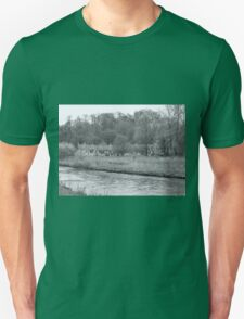 Early Spring in England Black and White Unisex T-Shirt