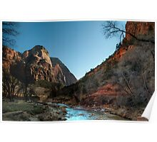 Zion River Poster