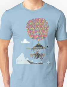 Riding A Bicycle Through The Mountains Unisex T-Shirt