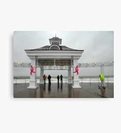 Breast Cancer & Sandy Canvas Print