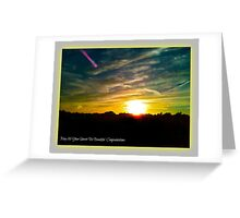 Shooting Star at Sunset Greeting Card