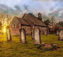 St Oswald at Sundown by Dave Godden