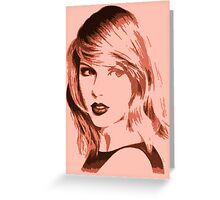 Taylor Swifh Poster Greeting Card