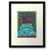 Bedtime With Cats Framed Print