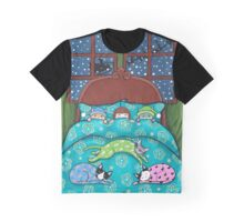 Bedtime With Cats Graphic T-Shirt