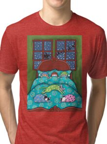 Bedtime With Cats Tri-blend T-Shirt