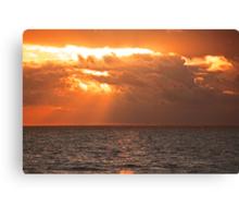 sunset... Canvas Print