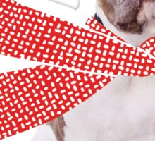 Holiday French Bulldog Love Red Christmas Heart Sticker