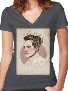 The Fall King  Women's Fitted V-Neck T-Shirt