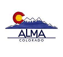 Alma Colorado wood mountains Photographic Print