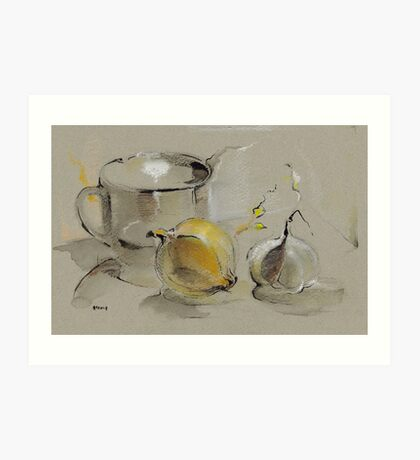 Grey Still Life Art Print