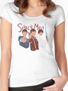 Space Men Women's Fitted Scoop T-Shirt