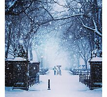 Beautiful Snow Storm in Central Park Photographic Print