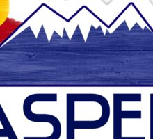 Aspen Colorado wood mountains Sticker