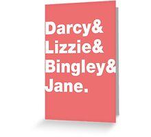 Darcy&Lizzie&Bingley&Jane.  Greeting Card
