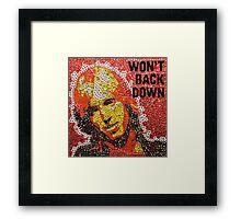 The Won't Back Down Tom - Bottle Cap Mosaic Framed Print