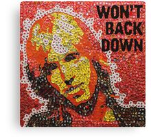 The Won't Back Down Tom - Bottle Cap Mosaic Canvas Print