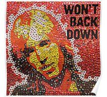 The Won't Back Down Tom - Bottle Cap Mosaic Poster