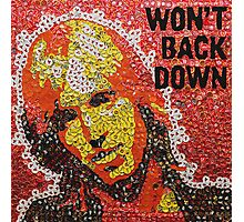 The Won't Back Down Tom - Bottle Cap Mosaic Photographic Print