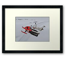 Snowmobile Tricks Framed Print