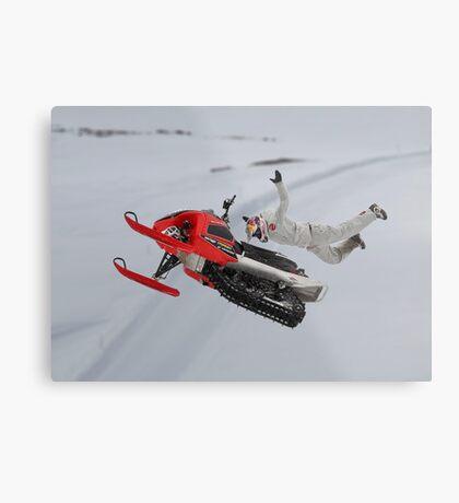 Snowmobile Tricks Metal Print