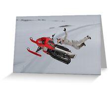 Snowmobile Tricks Greeting Card