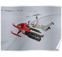 Snowmobile Tricks Poster