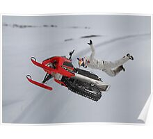 Snowmobile Tricks Poster