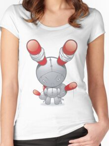 evil bunny Women's Fitted Scoop T-Shirt