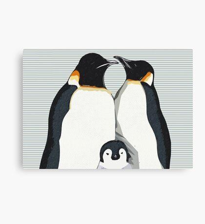 Penguin Hugs Canvas Print