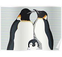 Penguin Hugs Poster