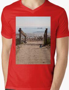 Beach Path Mens V-Neck T-Shirt