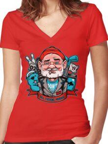 Bill Effing Murray Women's Fitted V-Neck T-Shirt