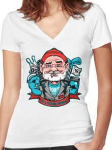 Bill Effing Murray Women's Fitted V-Neck T-Shirt
