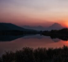 Oxbow Bend at Sunset by kudzu