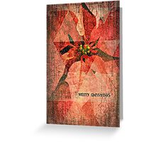 Merry Christmas (Pointsettias) Greeting Card