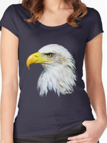 Bald Eagle Head Women's Fitted Scoop T-Shirt