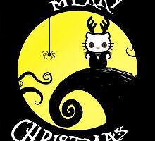 Nightmare before Christmas kitty card by deedeedee123